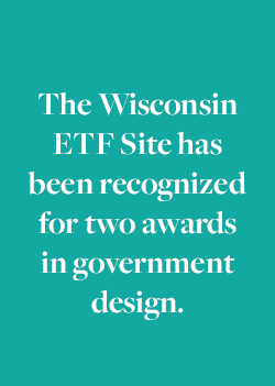 The Wisconsin ETF Site has been recognized for two awards in govenment design.