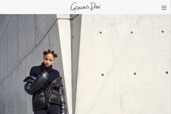 Screenshot of Garance Dore homepage