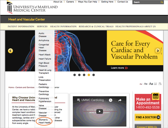 Figure 6: University of Maryland Medical Center Heart and Vascular Center