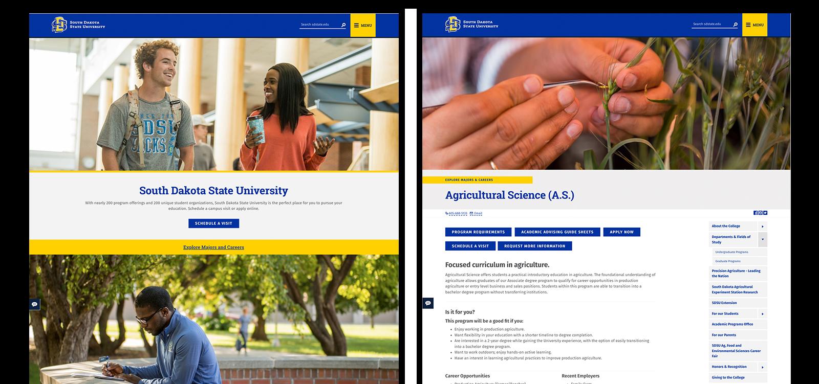 South Dakota State University website
