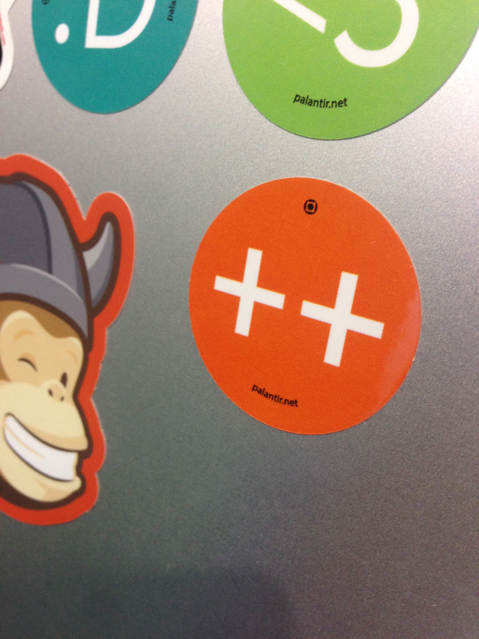 Photo of new Palantir stickers
