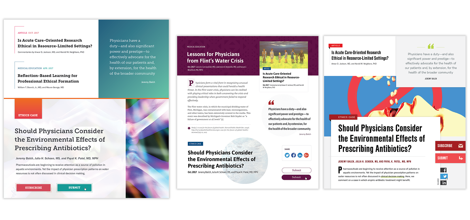 Style tiles for American Medical Association Journal of Ethics