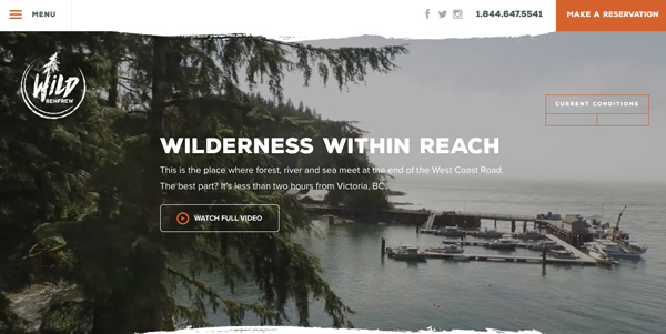 Screenshot of WildRenfrew homepage