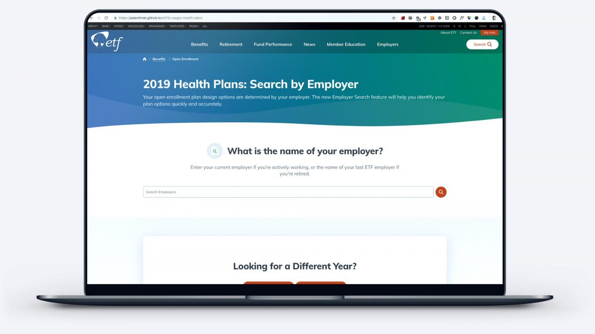 New employee benefits explorer page