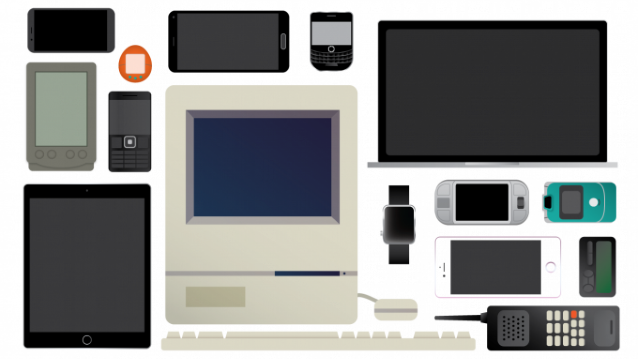 Illustration of various tech devices