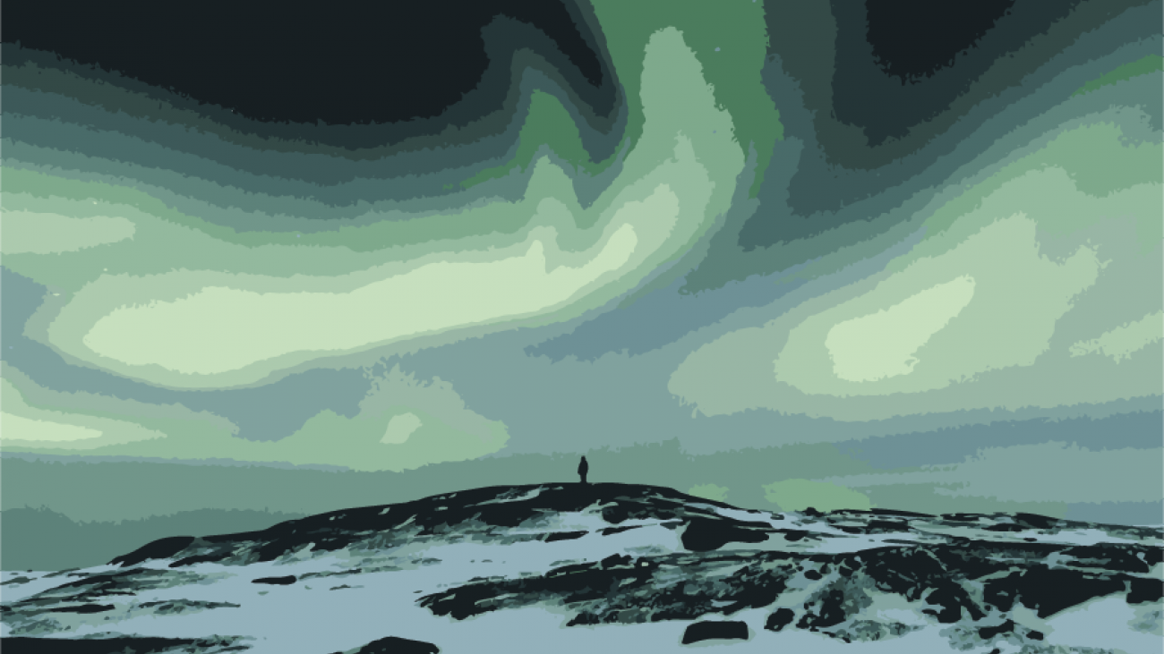 Illustration of Northern Lights
