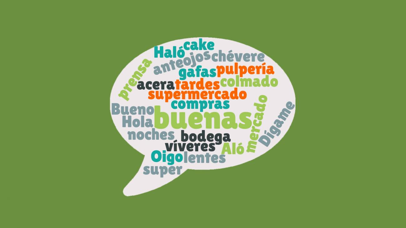 word cloud of spanish terms