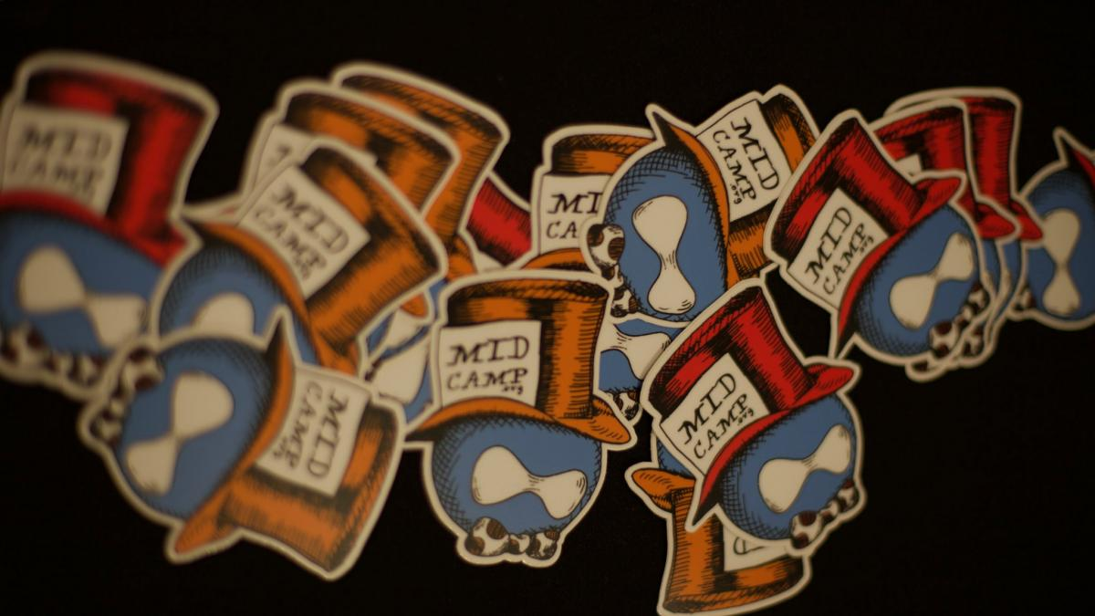Photo of MidCamp stickers