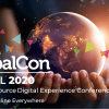 "Photo of hands holding a globe with the words, ""DrupalCon Global: The Open Source Digital Experience Conference - July 14-17 