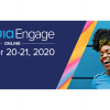 "Photo of woman laughing next to text reading ""Acquia Engage Online October 20-21, 2020"""